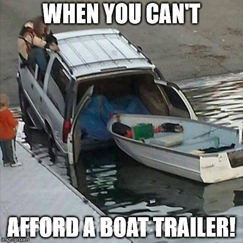When you can't afford a boat trailer