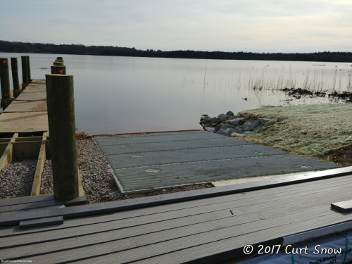The new ramp, the dock and the planks that are to be installed on the new dock