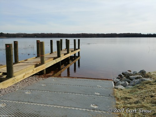 The new launch ramp and the dock, which is still a work in progress