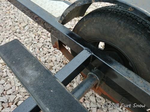 New Crossmember welded to trailer frame