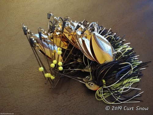 These are my signature baits for catching bass after dark during the warmer months. I make each one by hand.